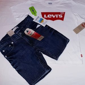 Levi's Boys Youth 2pc Jean's Short Set